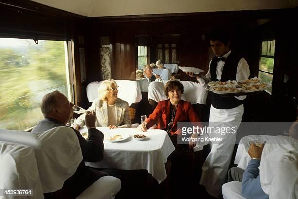 Europe Orient Express Train Restaurant Car
