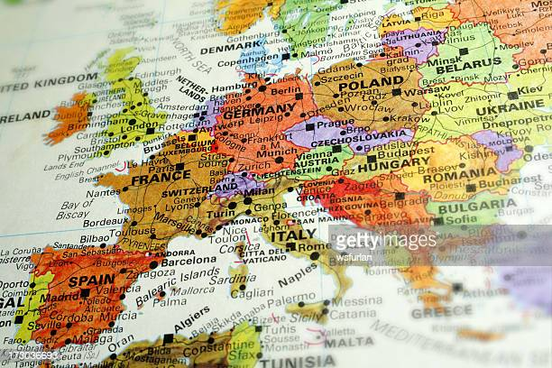 europe - maps stock photos and pictures