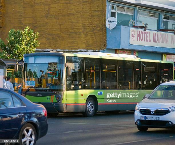 Europe, Spain, Algeciras Area, View Of Bus