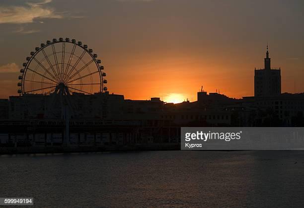 Europe, Spain, Andalusia, Costa del Sol, Malaga Area, View Of Ferris Wheel