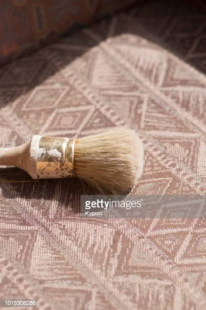Europe, Spain, Balearic Isles, Ibiza, 2018: View Of Armchair With Paintbrush