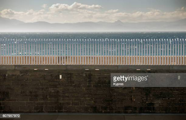 Europe, Spain, Cadiz, Andalusia, Tarifa Area, View Of Security Fence