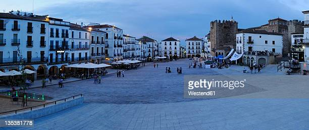 Europe, Spain, Extremadura, Caceres, View of Plaza Mayor