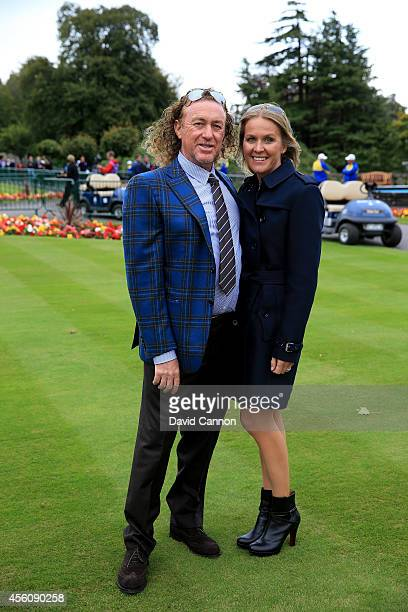 Europe team vice captain Miguel Angel Jimenez and wife Susanne Jimenez pose after the Opening Ceremony ahead of the 40th Ryder Cup at Gleneagles on...
