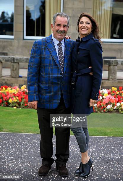 Europe team vice captain Sam Torrance and wife Suzanne Torrance pose after the Opening Ceremony ahead of the 40th Ryder Cup at Gleneagles on...