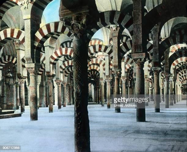 Europe travel Spain Andalusia Cordoba Mezquita Catedral de Cordoba image date 1910s 1920s Carl Simon Archive history historical Moorish Islamic...