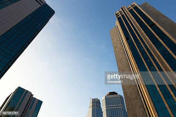 europe, turkey, istanbul, view of financial district at levent - bankenviertel stock-fotos und bilder