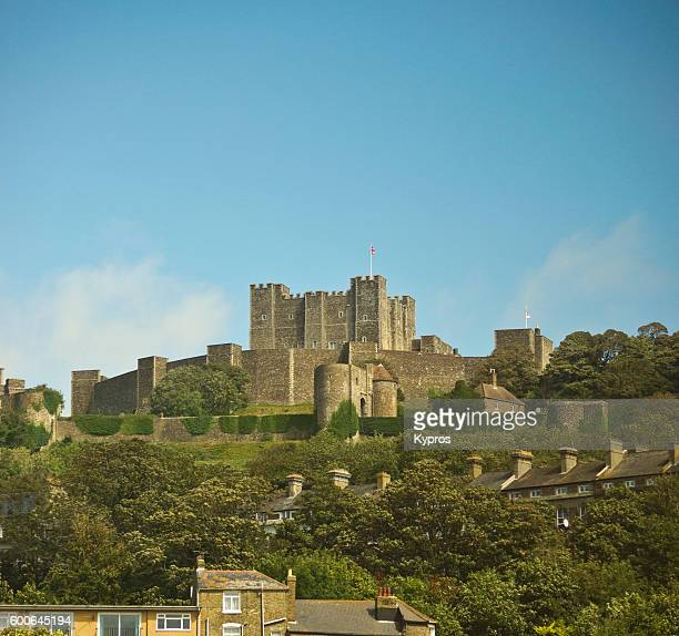 Europe, Uk, England, Kent, Dover Area, View Of Dover Castle