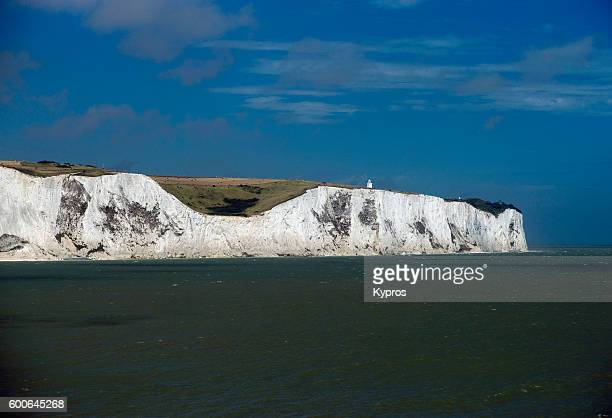 Europe, Uk, England, Kent, Dover Area, View Of The White Cliffs Of Dover