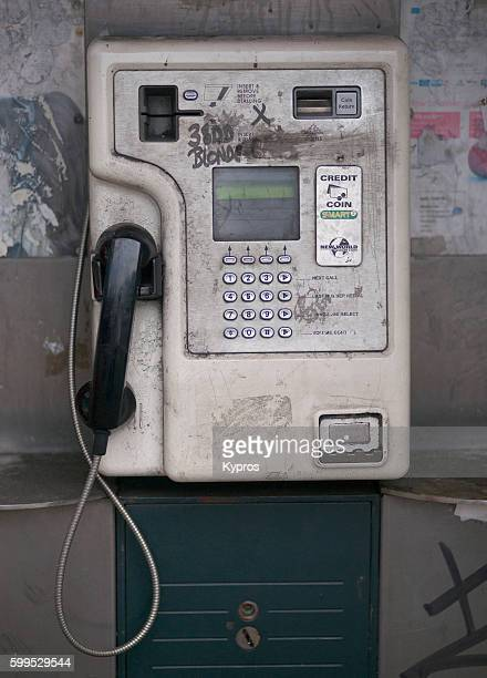 Europe, Uk, England, London, Edgware Road Area, View Of Phonebox Or Coinbox Public Pay Phone