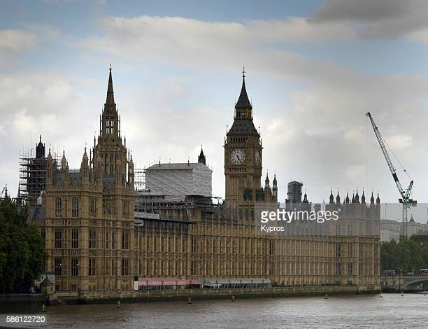 Europe, UK, England, London, View Of Houses of Parliament And Big Ben