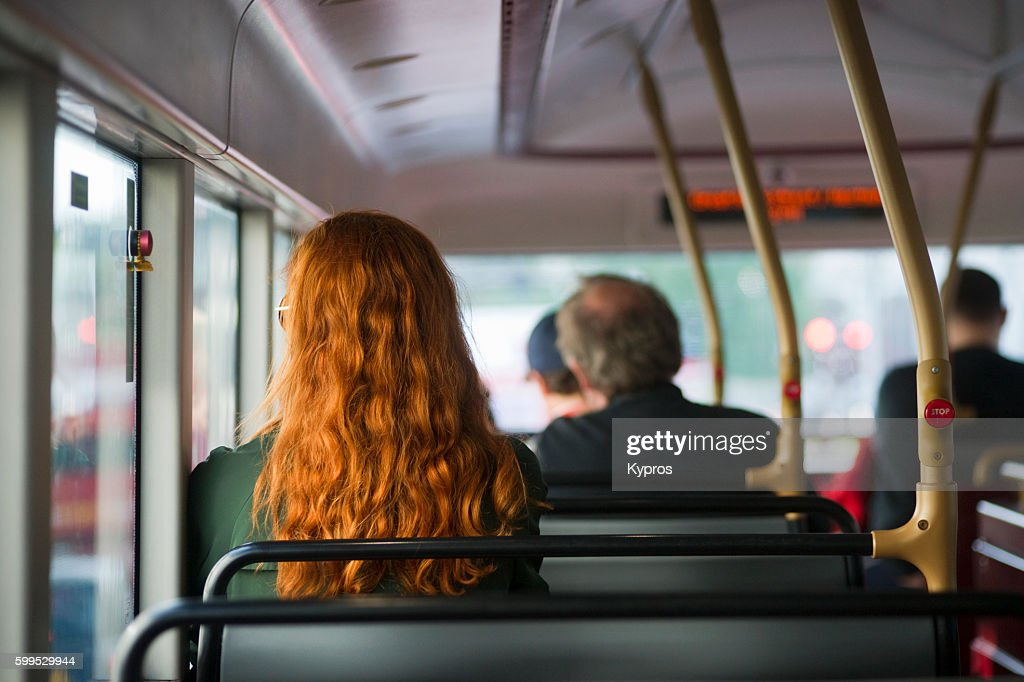 Europe, Uk, England, London, View Of Red Double Decker Bus : Stock Photo