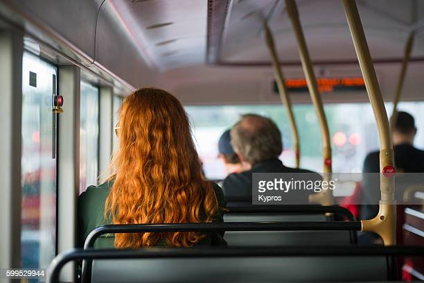 Europe, Uk, England, London, View Of Red Double Decker Bus