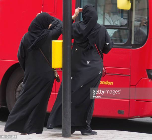 Europe, Uk, England, London, Westminster, Piccadilly Area, View Of Muslim Women