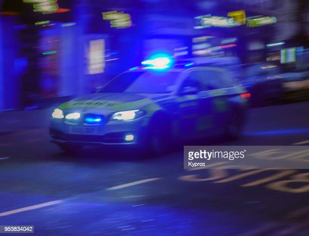 europe, uk, great britain, england, london area, 2018: view of police car - police car stock photos and pictures