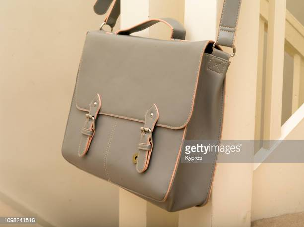 europe, uk, london, 2018: view of expensive satchel (bag) - leather purse stock pictures, royalty-free photos & images