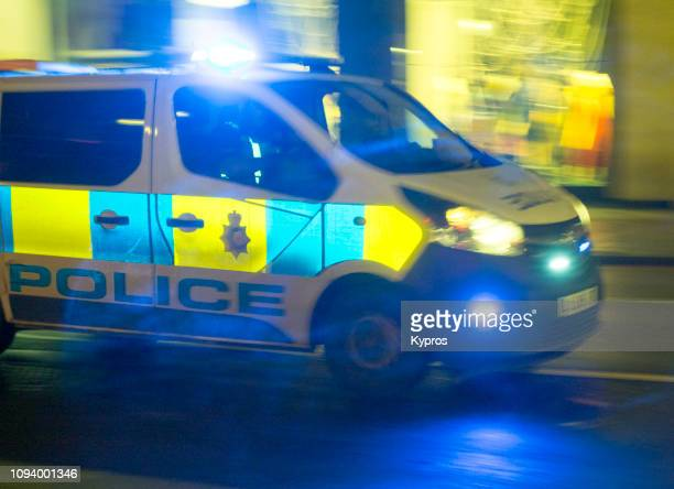 europe, uk, london, 2018: view of police van - metropolitan police stock pictures, royalty-free photos & images