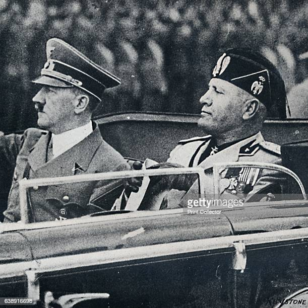 Europe was dominated by two political thugs of the Continent' c1937 Adolf Hitler and Benito Mussolini head of the National Fascist Party in an open...