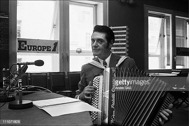 Europe1 Andre Verchuren Accordionist Portrait Of Andre Verchuren In Paris France In 1968