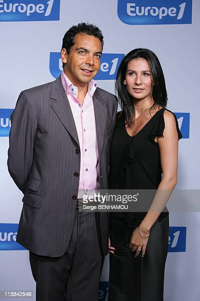 Europe1 Press Conference In Paris France On September 01 2008 Patrick Cohen and Marie Drucker