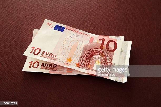 European 10 Euro bank notes