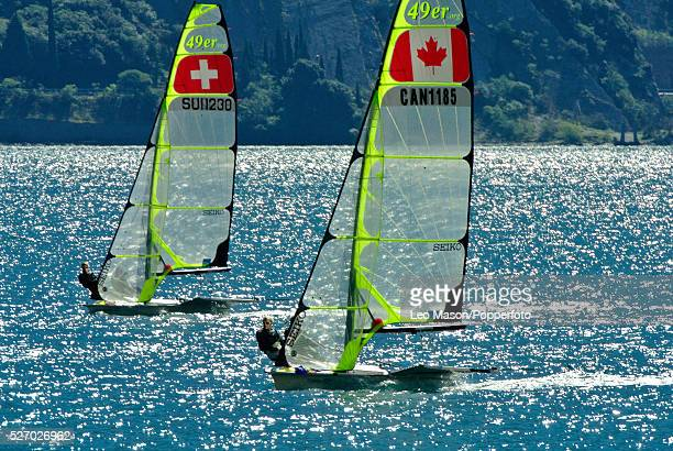 European 49er class Championships Lake Garda Italy Due DEN and Ferguson CAN