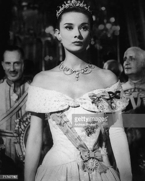 European actress Audrey Hepburn stars as Princess Ann in the romantic comedy 'Roman Holiday' 1953