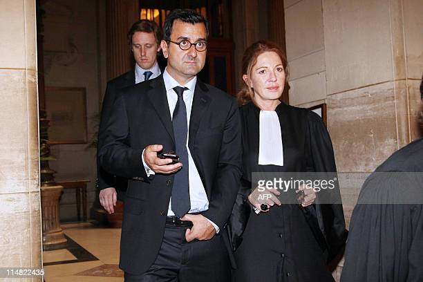 European Aeronautic Defence and Space Company former researcher Imad Lahoud, flanked by Catherine Boulanger, his lawyer, is seen, on May 11, 2011 at...