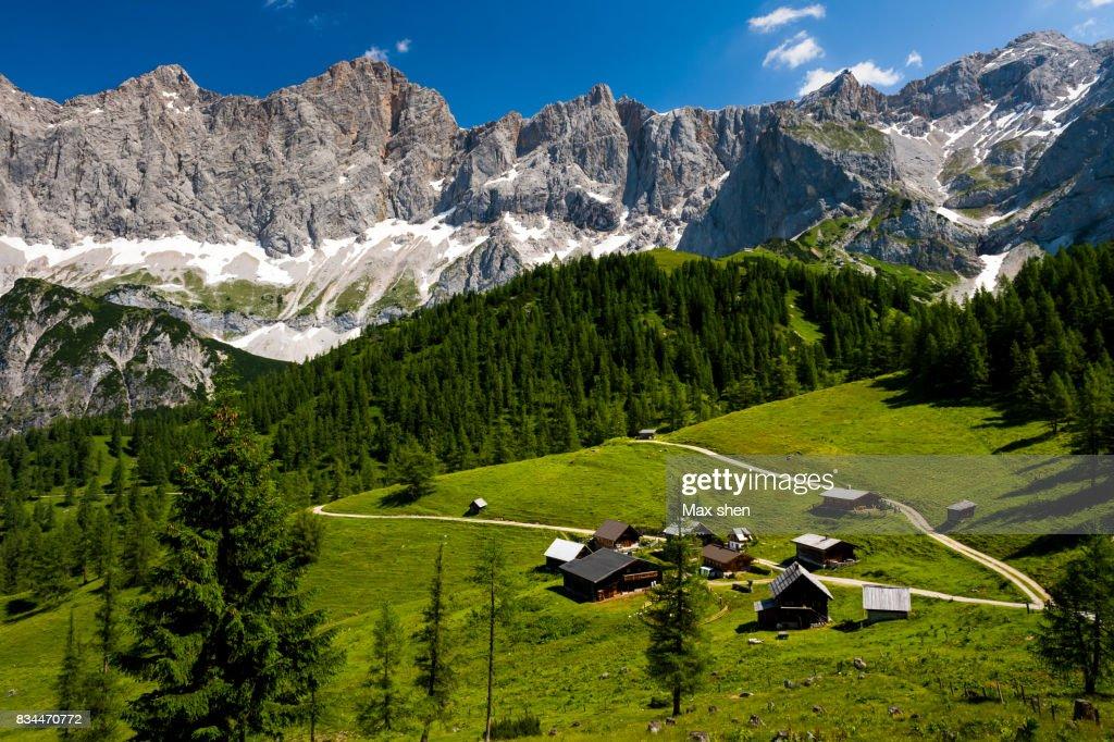 European Alps landscape at Dachstein, Austria : Stock Photo