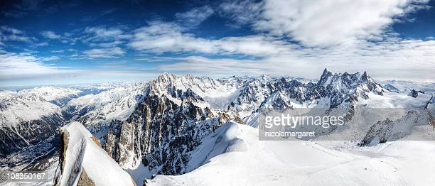 european alps xxl - mont blanc massif stock photos and pictures