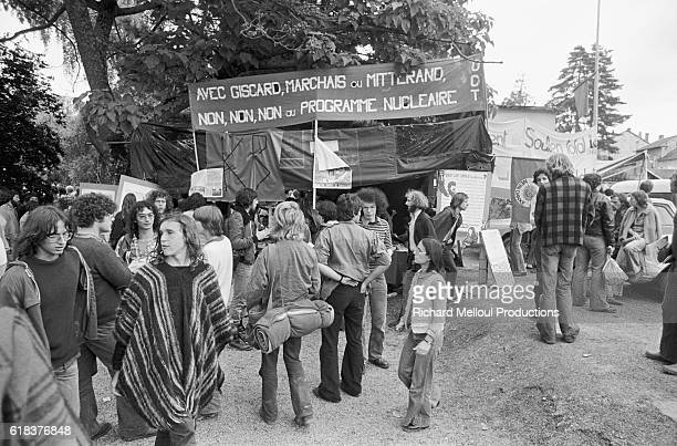 European antinuclear activists protest against the breeder reactor at CreysMalville During the protest a teacher was killed and several other...