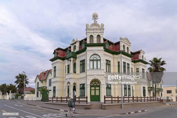 european architecture in swakopmund, namibia - erongo stock photos and pictures
