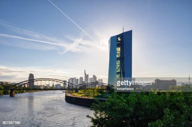 Europäische Zentral Bank Building in Frankfurt