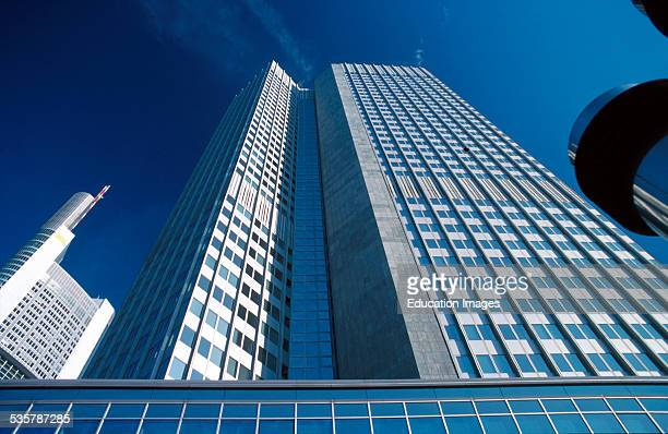 European Central Bank, ECB, Euro Tower, former BfG high-rise building, Frankfurt, Germany. It has 45 floors and is 148 meters high. The project took...