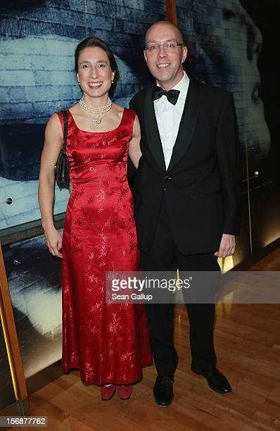 European Central Bank Executive Board member Joerg Asmussen and his wife Henriette Peucker attend the 2012 Bundespresseball at the Intercontinental...