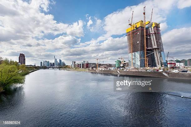 BCE, la Banque centrale européenne à Francfort-chantier de construction