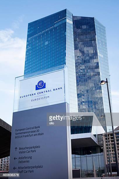 ecb, european central bank frankfurt, germany - seat of the european central bank stock photos and pictures