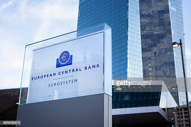 ecb, european central bank frankfurt, germany - european central bank stock pictures, royalty-free photos & images