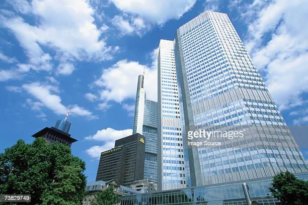 european central bank, frankfurt, germany - culture européenne photos et images de collection