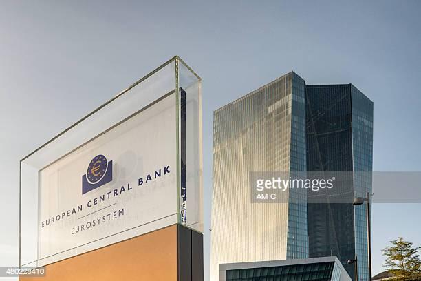 ecb, ezb, european central bank, frankfurt - european central bank stock pictures, royalty-free photos & images