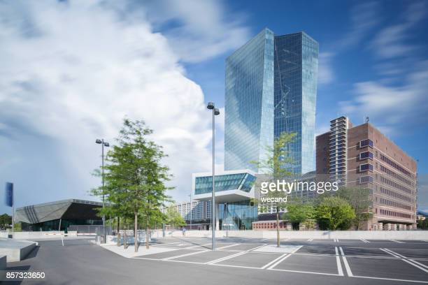 european central bank - seat of the european central bank stock photos and pictures