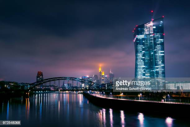 european central bank - frankfurt main stock pictures, royalty-free photos & images