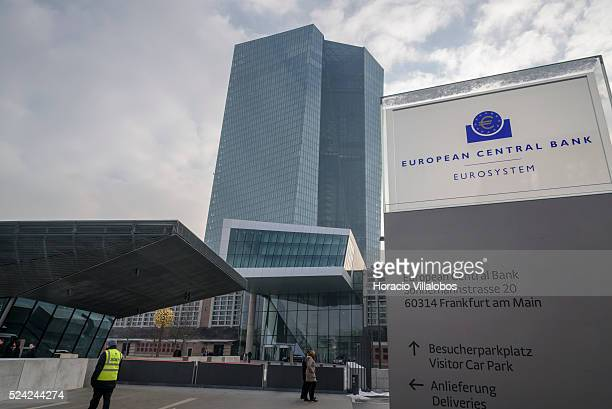 European Central Bank premises during ECB president Mario Draghi's press conference in the ECB Headquarters in Frankfurt Germany 21 January 2016...
