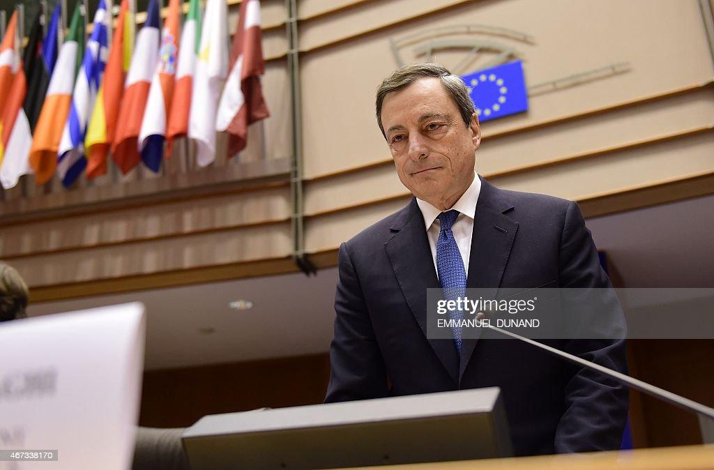 BELGIUM-EU-BANK-DRAGHI : News Photo
