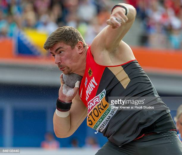 European Champion David Storl of Germany during the menÕs shot put finals at the Olympic Stadium during Day Five of the 23rd European Athletics...