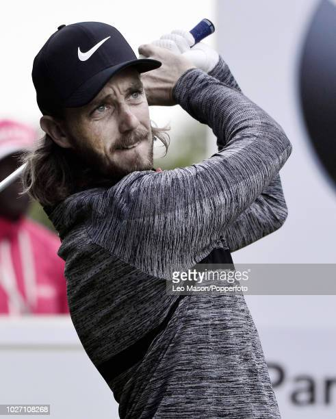 European Champion Tommy Fleetwood of England tees off during the 1st round of The BMW PGA Golf Championships at Wentworth on May 24 2018 in Virginia...