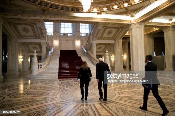 European Chief Negotiator for the United Kingdom Exiting the European Union Michel Barnier arrives at the Romanian parliament Photographed for Paris...