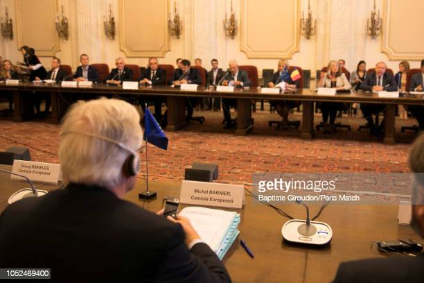 European Chief Negotiator for the United Kingdom Exiting the European Union Michel Barnier attending a meeting with representatives of the Romanian...