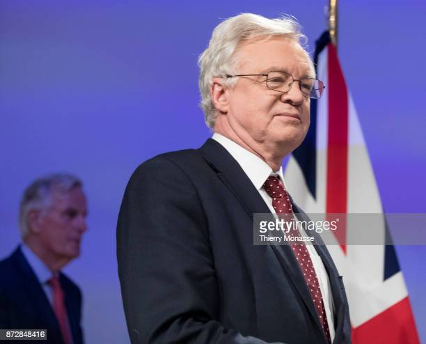 European Chief Negotiator for the United Kingdom Exiting the European Union Michel Barnier and the British Secretary of State for Exiting the...