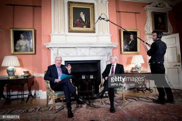 European Chief Negotiator for the United Kingdom Exiting the European Union Michel Barnier and Brexit Secretary David Davis meet for talks in Downing...